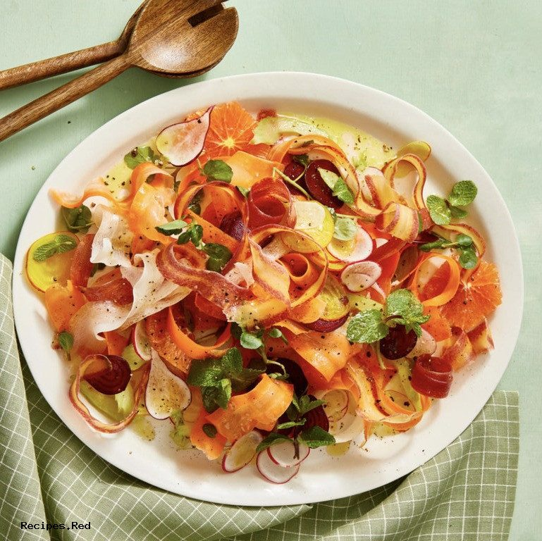Shaved Carrot and Radish Salad