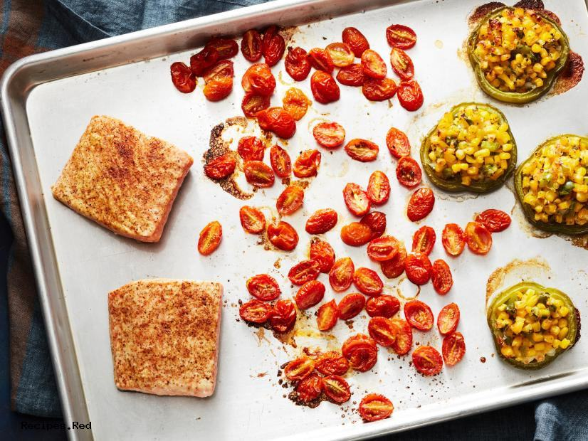 Healthy BBQ Salmon Sheet Pan Dinner
