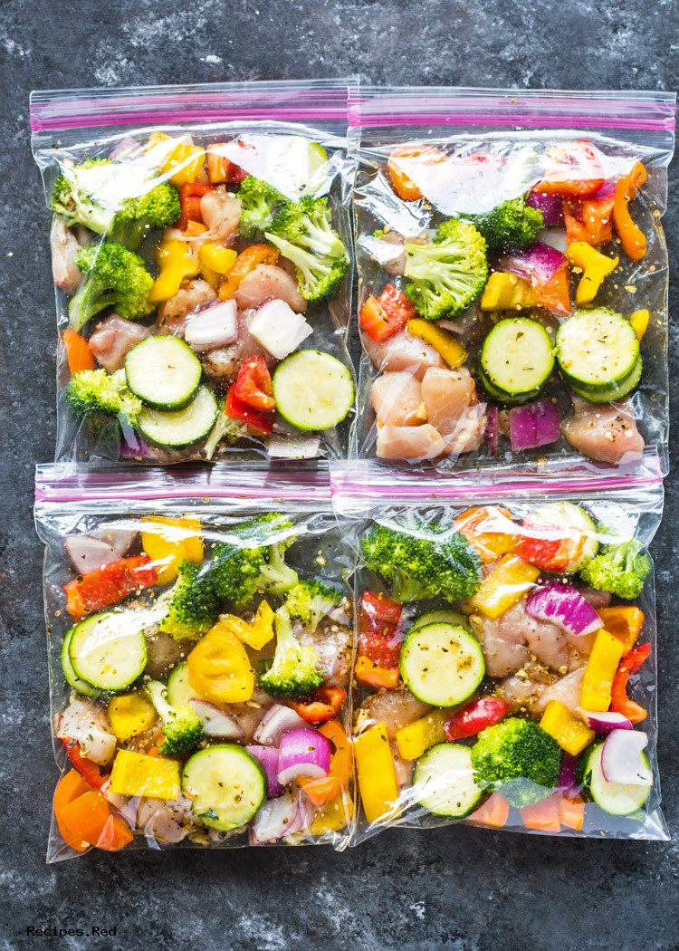 Chicken and Veggie Freezer Packs - Meal Prep