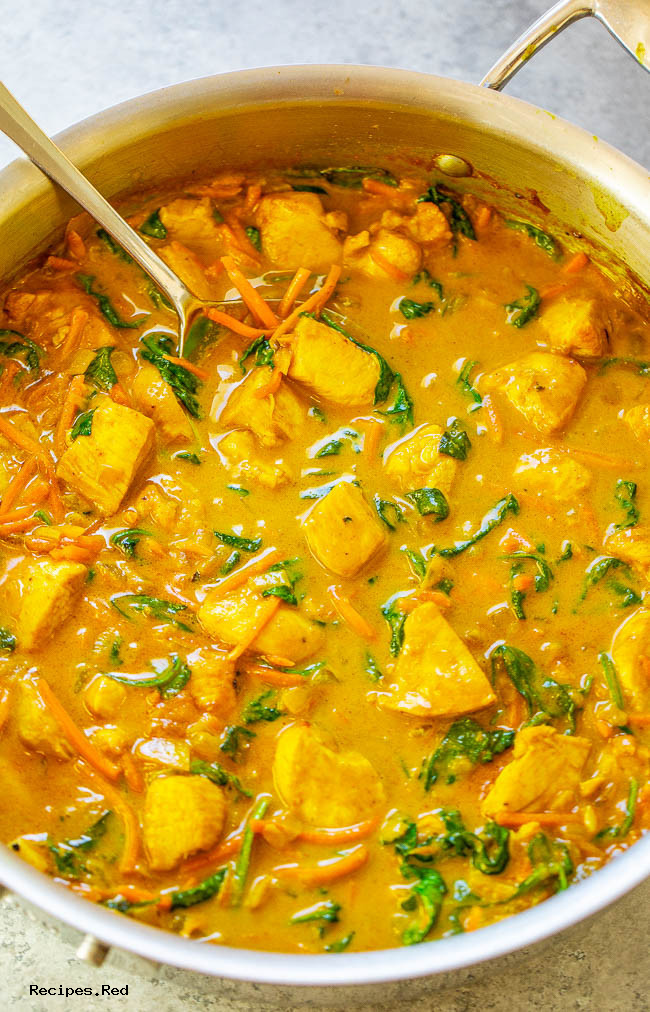 Yellow Thai Chicken Coconut Curry