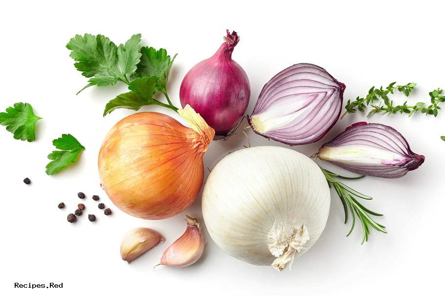 Onion History And Characteristics Calories And Nutrition Facts About Onions Recipes Red