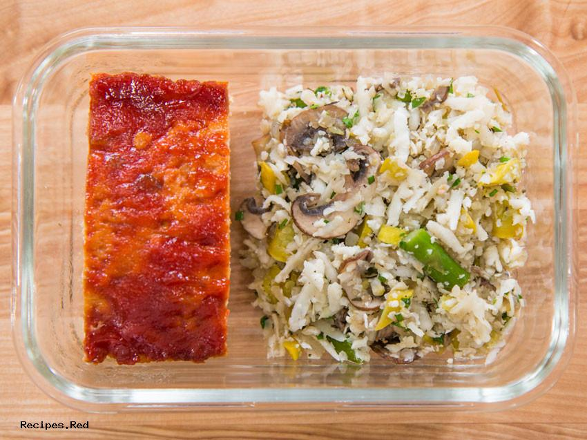 Turkey Meatloaf Meal Prep : Gluten Free, Weight Loss/Low-Cal