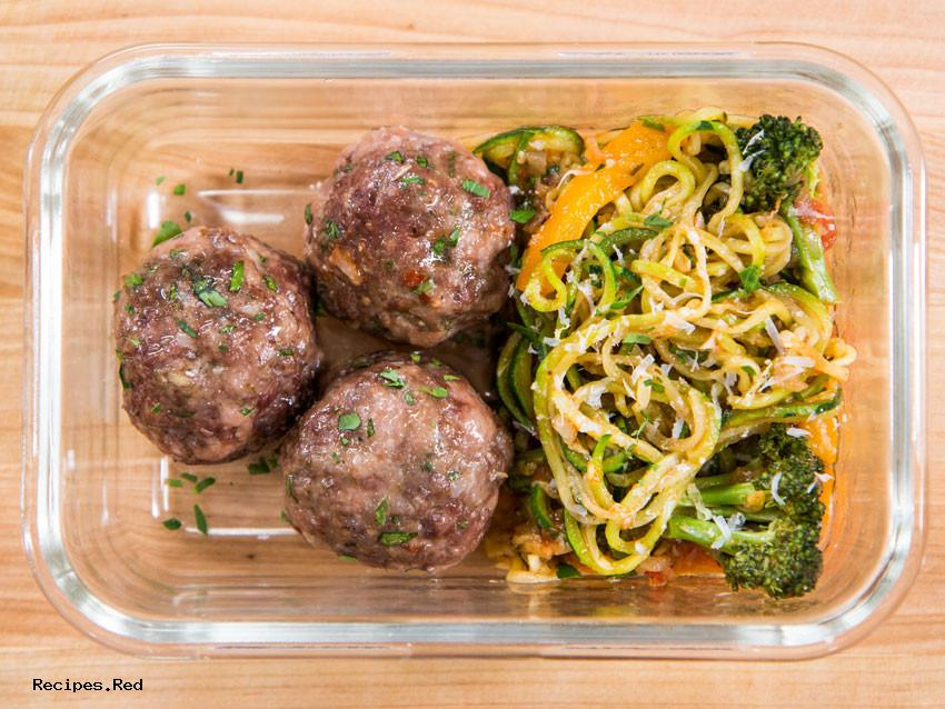 Low Fat Meal Prep : Meatball Weight Loss Meal Prep
