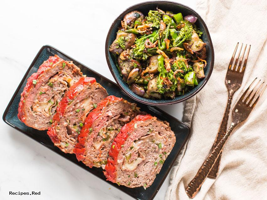 Low Carb Meatloaf & Veggies